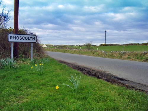Rhoscolyn road sign