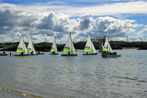Sailing at Rhoscolyn Beach01