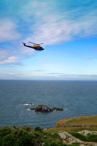 Helicopter at Rhoscolyn coast2