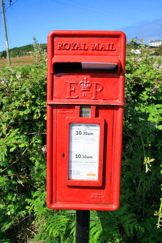 Rhoscolyn post box